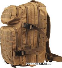 COYOTE Tan SMALL 28L Molle Assault Pack by Kombat UK - Backpack, Rucksack, Bag