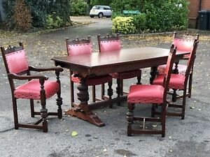 Oak Table & 6 Chairs