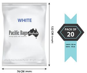 Pack of 20 - 76 x 122 cm Large Woven Polypropylene Grass / Garden / Chaff Bags