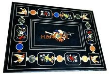 3'x2' Semi Precious Marble Dining Table Top Outdoor Inlaid Marquetry Decor B269