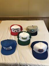 VINTAGE LOT OF 5 TRUCKER SNAPBACK HATS