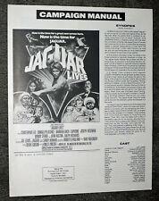 JAGUAR LIVES original 1979 pressbook JOE LEWIS/CHRISTOPHER LEE/BARBARA BACH