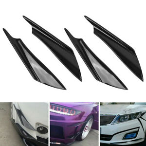 Car Front Side Wing Spoiler Fin Bumper Protector Air Trim Canards Splitters Lip