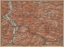 BAD RAGAZ PRÄTIGAU MONTAFON ENVIRONS. Wangs Rätikon Bludenz Maienfeld 1899 map