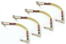 "4 New Fender Custom Shop Tweed 6"" inch Patch Cables! Right Angle"
