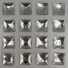 35 x 14mm CLEAR SQUARE Rhinestone Diamante Stick On Self Adhesive GEMS Diamonte