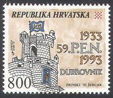 Croatia 1993 Literature/Congress/Castle/Buildings/Architecture 1v (n40767)