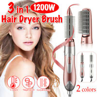 3 In 1 One Step Hair Dryer & Volumizer Pro Brush Straightener Curling Iron Comb