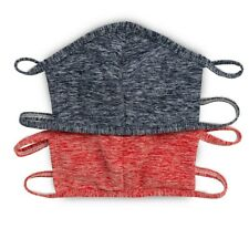 2 Pack Washable Face Cover - Made in USA (One Size) Navy/Red - Filter Insert