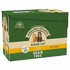 JAMES WELLBELOVED Senior Cat Grain Free Pouches with Lamb in - 85g - 434084