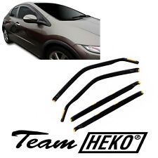 17131 Honda Civic Hatchback 5-türer 2006-12 Heko Derivabrisas Oscuro 4-tlg Kit