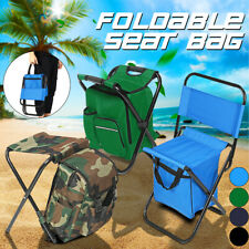 Foldable Folding Outdoor Multi-Function Fishing Beach Chair Stool w/ Carry Bag W