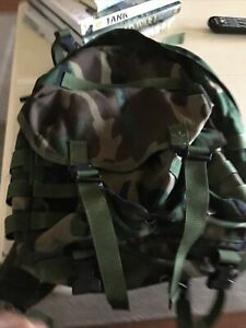 US Military Molle II Woodland Patrol Pack Backpack w/ Stiffener VGC