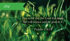 Pass Along Scripture Cards, Joy, Psalms 118:24, Pack 25