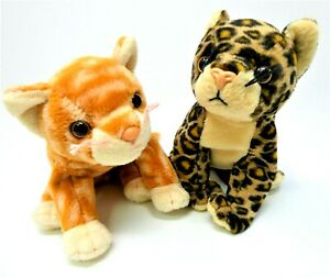 Ty Beanie Babies Vintage Kittens AMBER & SNEAKY 1999/ 2000 Plastic noses No Tags