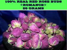20Grams REAL DRIED RED ROSE BUDS ☆LOVE☆MAGICK ROMANCE ANNIVERSARY FREE POST
