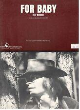 """JOHN DENVER """"FOR BABY"""" SHEET MUSIC (FOR BOBBIE) PIANO/VOCAL/CHORDS-1972-RARE-NEW"""