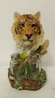 Yellow Tiger Head w/ Salt and Pepper Shakers Gift Set, Tiger King, NEW!