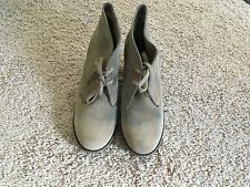 J.Crew MacAlister Wedge Boots Womens Tan Suede Ankle Lace Up 6M Italy $198 28671