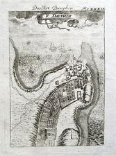 MADAGASCAR, FORT DAUPHIN, TOLANARO, AFRICA Mallet antique bird's eye map 1719