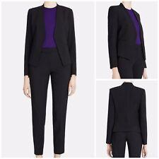Theory Black Lanai Sevona Open Blazer Wool Blend Style #G011112R Size 10