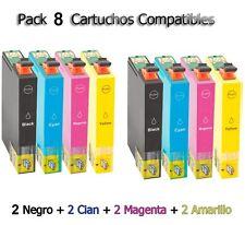 8 cartuchos de tinta para Epson xp102 xp202 xp205 xp212 xp215 xp302 xp305 Home