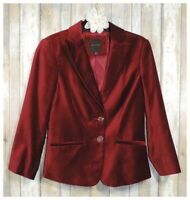 THE LIMITED® S Goji Berry Red Zip Front Jacket NWT $119