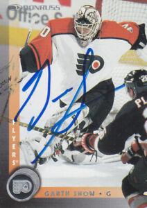 Garth Snow Autograph 97-98 Donruss Flyers Card Islanders - Penguins
