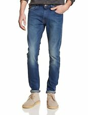 Lee Luke Slim Tapered Denim Jeans New Men's Stretch Regular Rise Day Used Blue