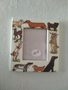 """MATTHEW RICE Paper Picture/Photo Frame Made in England, 2.5"""" Dog Canine Motif"""