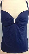 Victoria's Secret NWOT Heavenly Tankini Top Swimsuit Dark Blue 4B3 36 C 36C