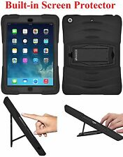 AMZER TUFFEN Rugged Triple Layer Case Stand Built in Screen Guard For iPad Air 1