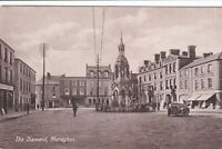 Vintage 1934  RPPC Real Photo Postcard The Diamond, Monaghan Ireland w Cars