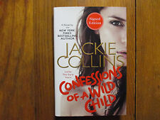 JACKIE COLLINS(Died-2015)Signed Book(CONFESSIONS OF A WILD CHILD-14 1st Edit Har
