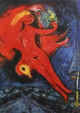 1966 Marc Chagall Model Rouge Floating Red Nudes Abstract Expressionism #121