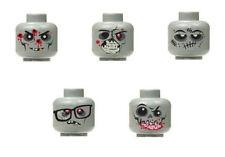 Lego Custom Assorted Gray Zombie Minifigure Head walking dead City Halloween #1