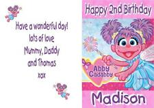 Abby Cadabby Sesame Street Personalised Birthday Card - Any name & age