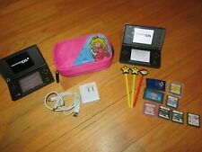10O/NINTENDO DS LOT/LITE/CASE/CHARGER/8 GAMES/3 STYLUS/WORK GREAT!