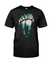 Bigfoot Rock & Roll Hide & Seek Sasquatch Heavy Metal Music Funny Black T-shirt