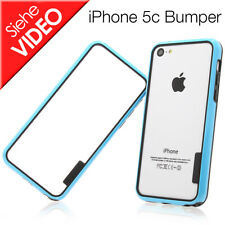 Apple iPhone 5c TPU Bumper Silikon Handytasche Case Handy Hülle schwarz blau NEU