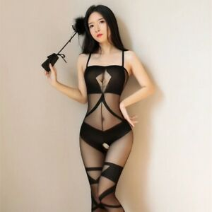 Fetish Women Sexy Lingeries Crotchless BodyStockings Nightclub Costumes Roleplay
