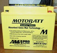 Motobatt 12 Motorcycle Battery YB12BB2 YTX12BS YTX14BS YTX14HBS YTX14LBS MBTX12U