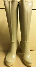 "Hunter Lonny Latte 4"" Heel Platform Rubber Rain Boots US6 UK4 EU37 Gummistiefel*"