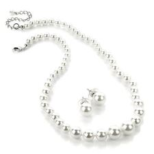 Pearl Glass Mixed Metals Costume Jewellery Sets