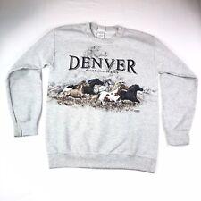 Vintage Denver Colorado Horses Crewneck Sweatshirt Pullover Size S Small #1280