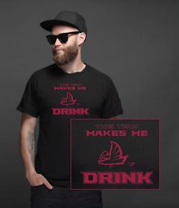Atlanta Falcons This Team Makes Me Drink T-Shirt | Funny Jersey Ryan Jones My