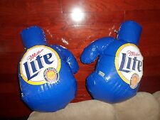 MILLER LITE BEER BOXING GLOVES INFLATABLE BLOW-UPS Mancave ADVERTISEMENT