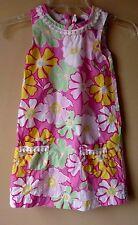 BABY GAP Girls Pink Green Floral Print Dress Sleeveless SIZE 5