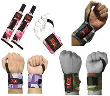 2Fit power weight lifting wrist grip support wraps gym training fist straps camo