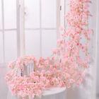 6ft Artificial Cherry Rattan Fake Flower Hanging Wedding Decor Garland Plant